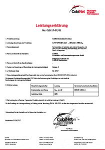 Leistungserklärung CLD 17-07-01