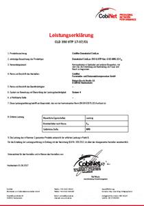 Leistungserklärung CLD 350 UTP