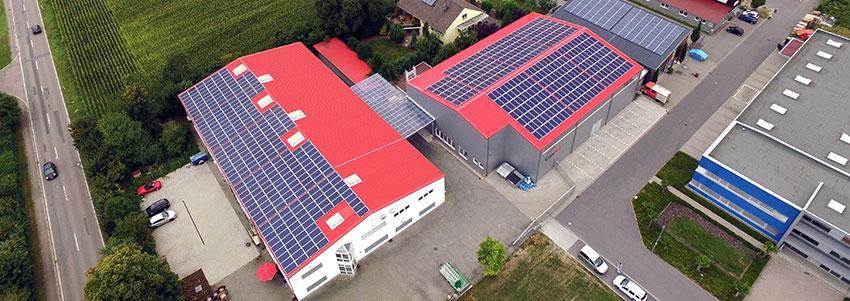 CobiNet Hauptsitz-Photovoltaik-Anlage